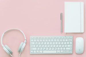 hintergrund arbeitsplatz rosa