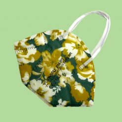 ffp2 Maske grün floral colour