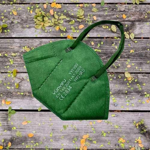 ffp2 maske grün colour
